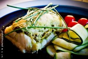 Primal fish with Pesto -